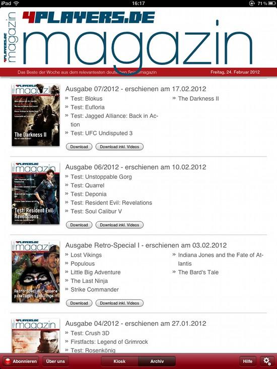 Screenshot 4Players Magazin