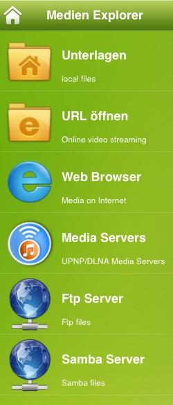AcePlayer Medien Explorer