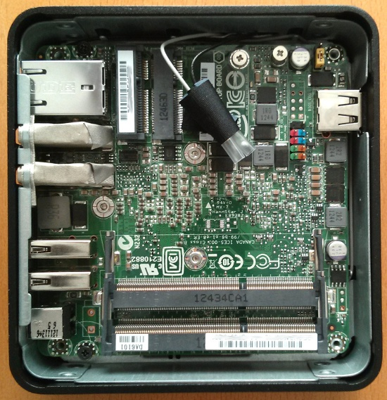 Intel NUC DC3217IYE Platine