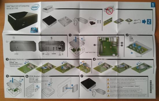 Intel NUC DC3217IYE Anleitung