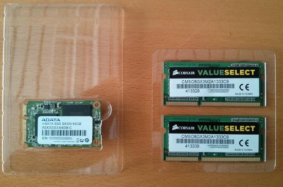 SO-DIMM und mSATA für Intel NUC