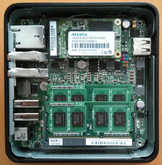 Intel NUC DC3217IYE betriebsbereit